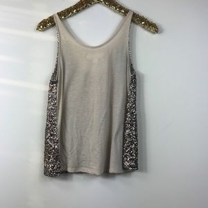 Decree Tops - Gold sequin tank top size small